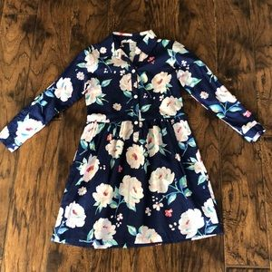 Beautiful navy with roses dress, size 6X